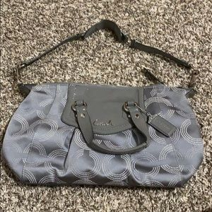 Coach purse, Gray & Silver.